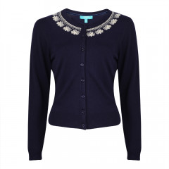 Ingrid Cardigan Navy/Cream