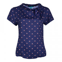 Instow Top Navy/Red/Cream