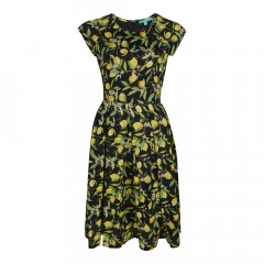 Lemon Blossom Prom Dress Black/Yellow