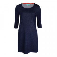 Poppy Trapeze Dress Indigo Denim