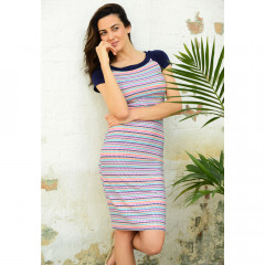 Tobago Dress Multi/Navy