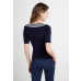 Annette Knitted Top Navy/Cream