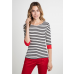Brigitte Striped Top Cream/Black/Red