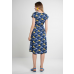 Cassie Dress Navy Multi