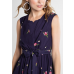 Elise Tie Dress Navy Floral
