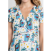 Flamingo Wrap Dress Multi