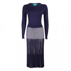 Lewes Dress Navy/Cream