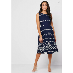 Clovelly Prom Dress Navy/Cream