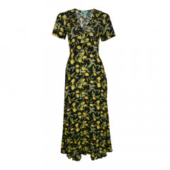 Lemon Blossom Maxi Dress Black/Yellow