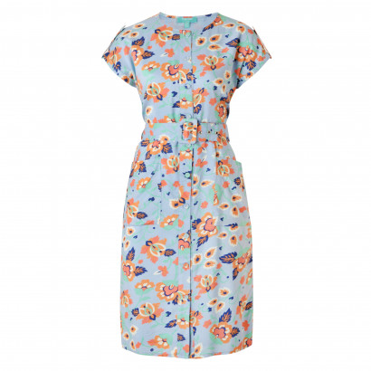 Polly Button Down Dress Multi Floral