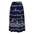 Clovelly Skirt Navy/Cream