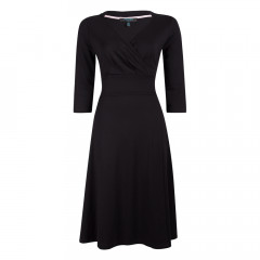 Andrea Wrap Dress Black