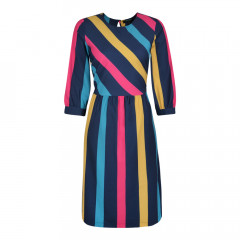 Cassidy Dress Navy Multi