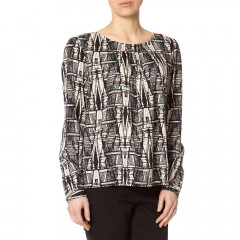 Escher Monochrome Print Blouse