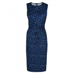 Katya Dress Navy/Cream Spot