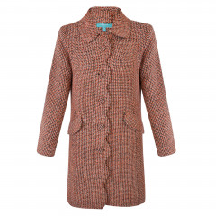 Lana Coat Orange/Brown/Cream