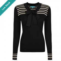 Lowell Top Black/Cream