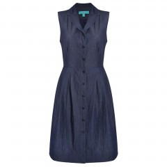 Yvonne Shirt Dress Dark Denim