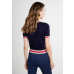 Claudia Knitted Top Navy/Sand/Red
