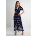 Clovelly Maxi Dress Navy/Cream