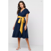Natasha Wrap Dress Navy/Honey